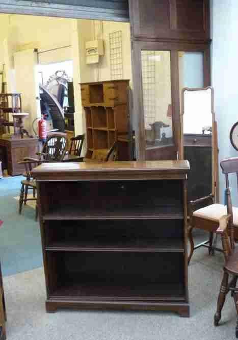 Edwardianisches original antikes Mahagoni Bücherregal englisch ca 1890