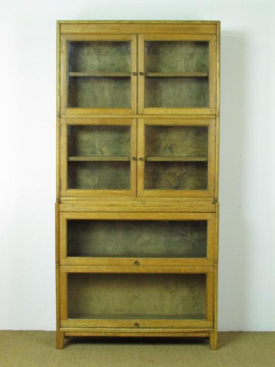 Ausgezeichnetes Englisches Antikes verglastes Heal's Eichen Bücherregal ca. 1920