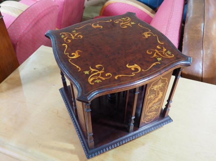 WunderbaresAntikes Englisches Viktorianisches Mahagoni Drehbücherregal ca. 1890