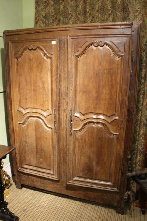 Original antiker französischer Eichen Kleiderschrank ca 1800