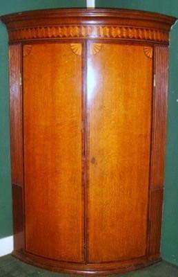Original antiker georgianischer Eichen Eckschrank englisch ca 1770