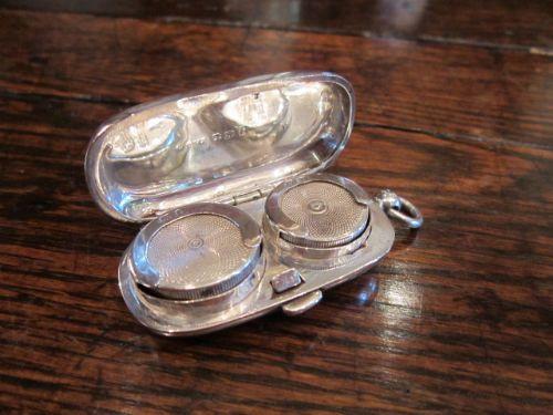 Original edwardianisches Sovereign Case Etui Silber antik englisch ca 1890