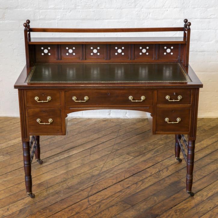 Ausgezeichneterantiker viktorianischer Mahagoni Schreibtisch englisch ca 1850