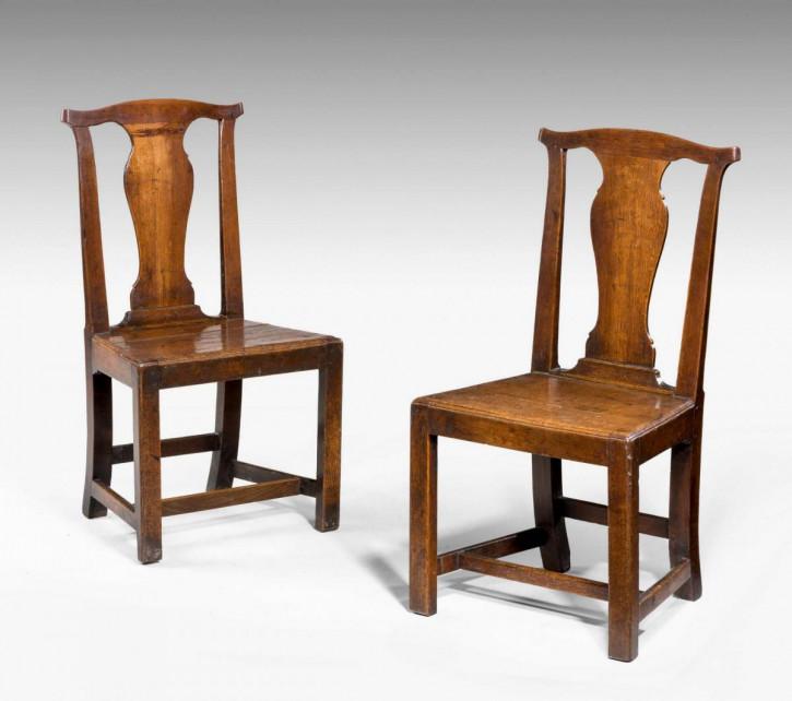Großartigeantike Landhaus Stühle Eiche Küchenstühle englisch ca 1760