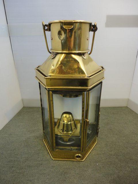 Antike Messing Schiffslaterne Lampe englisch Bulpitt & Söhne 1920
