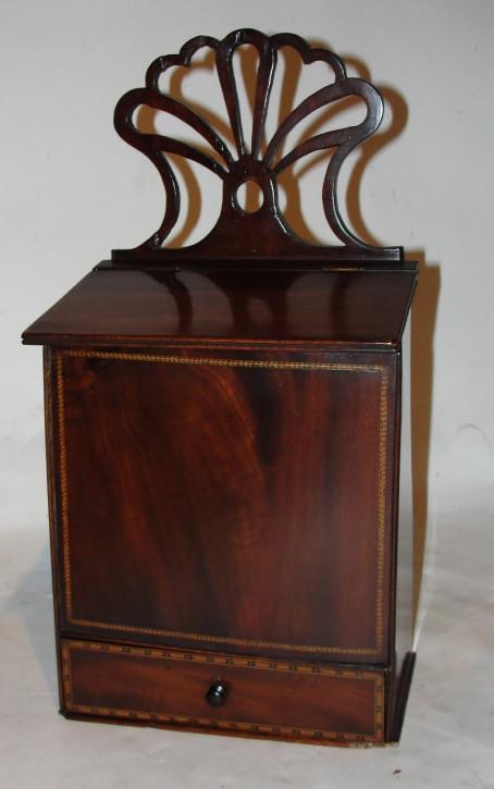 Georgianische englische Mahagoni Kerzenbox Kerzenkasten original antik ca 1780