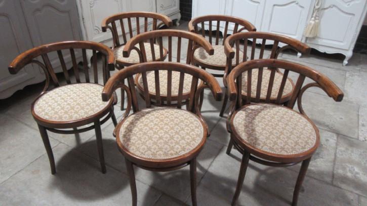 7 Stk original antike Bugholz Küchenstühle Stühle englisch ca 1910