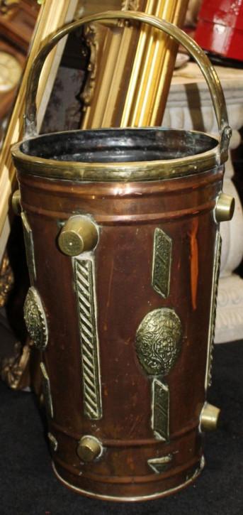 Original Antiker Englischer Arts & Crafts Messing Schirmständer ca. 19. JH