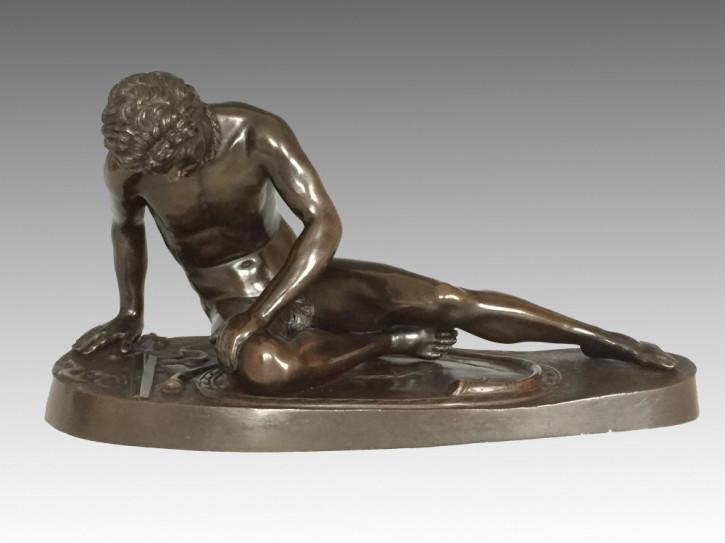 Italienische Bronze sterbender Galliers Amodio Naples antik ca. 1880