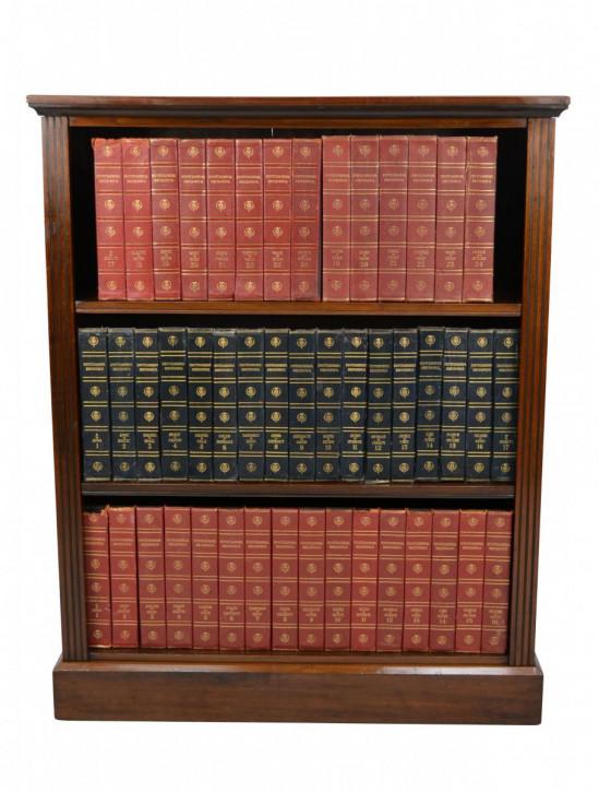 Viktorianisches Englisches antikes Nussbaum Bücherregal ca 1890