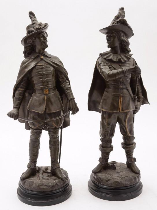 Französisches Antikes Paar Bronze Figuren ca. 1890