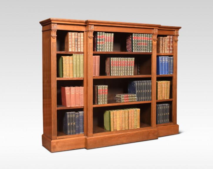 Original englischer Nussbaum Bücherschrank antik ca 1890