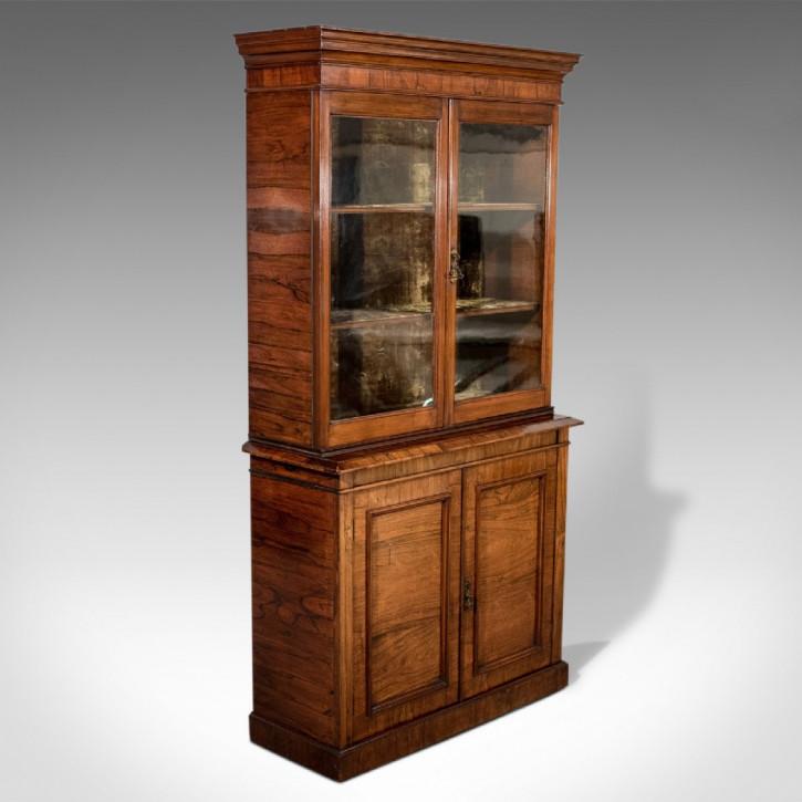 Antikes Englisches Viktorianisches Palisander Bücherregal ca. 1900
