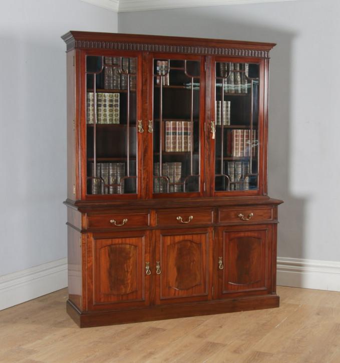 Englisches Antikes Mahagoni S&H Jewell Bibliotheken Bücherregal ca. 1900