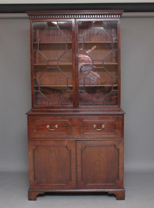 Antikes Englisches Mahgaoni Sekretär Bücherregal ca. 1790