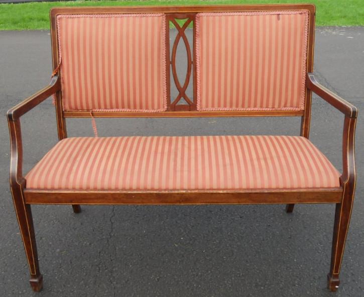Englisches Edwardianischen Intarsien Mahagoni Sofa  ca. 1900