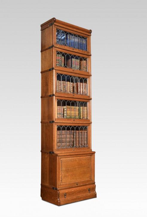 Antikes Englisches Eichen Globe Wernicke Bücherregal ca. 1910