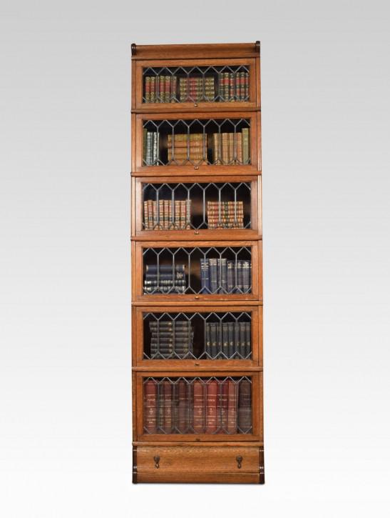 Englisches Antikes Globe Wernicke Eichen Bücherregal ca. 1910