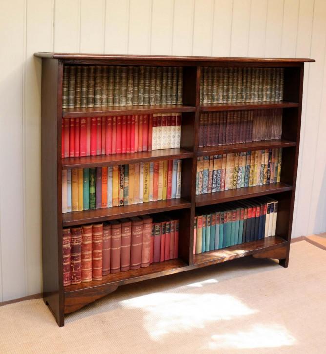 Englisches Antikes Eichen Bücherregal ca. 1910