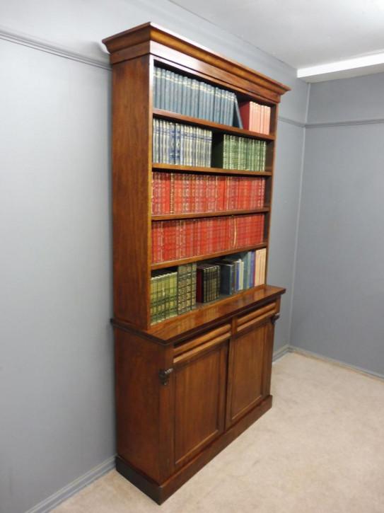 Englischer Antiker Viktorianischer Mahagoni Bücherschrank ca. 1880