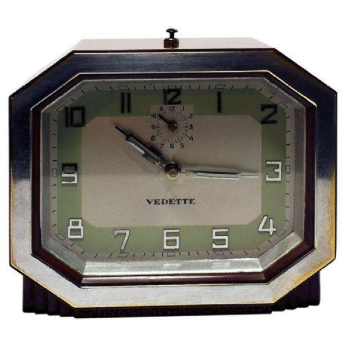 Französische Antike Art-Deco Bakelit Uhr von Vedette ca. 1930