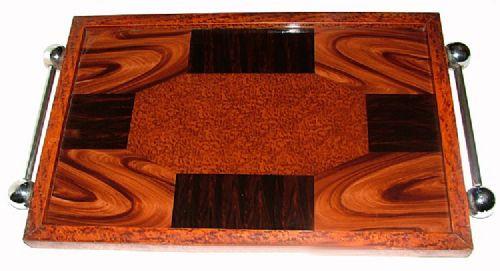 Englischer Antiker Art Deco Modernist Tablett ca. 1930