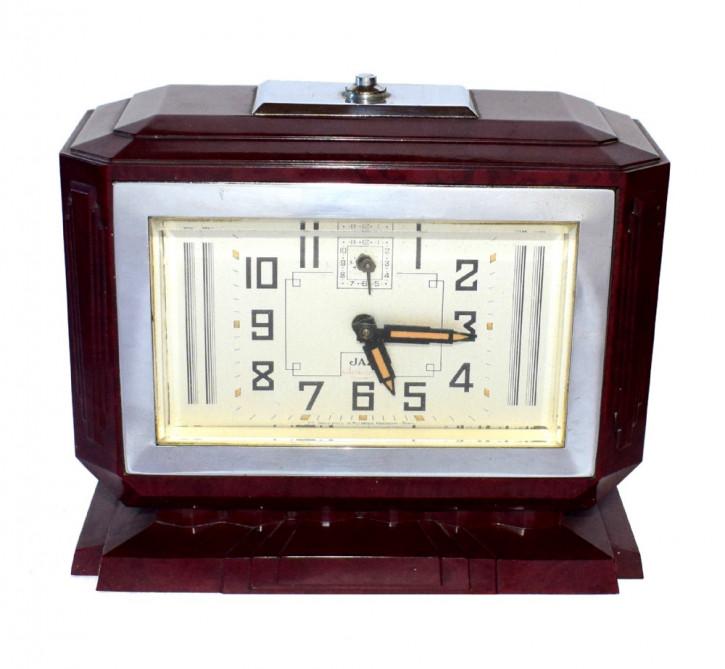 Französische Antike Art Deco Bakelit Uhr ca. 1930