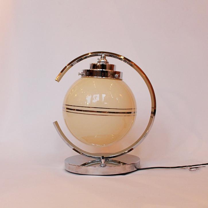 Englische Art Deco Glas Tischlampe antik ca 1930