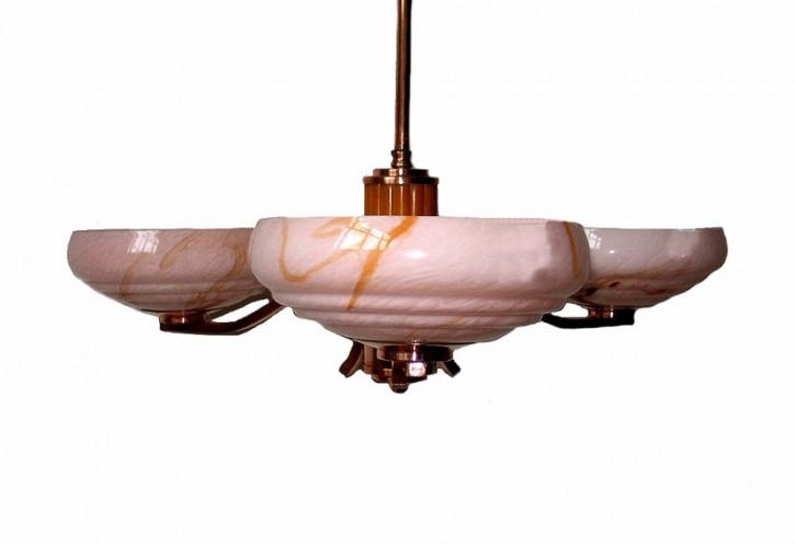 Britische Art Deco Bakelit Deckenlampe antik ca 1930