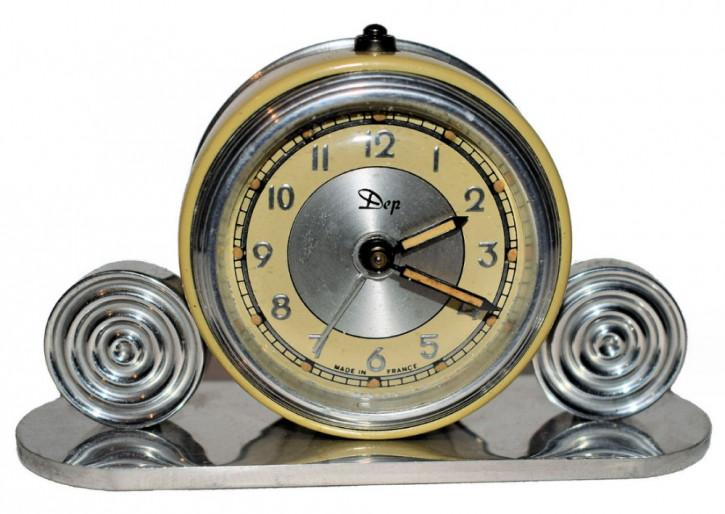 Französische Art Deco Uhr Wecker antik ca 1930