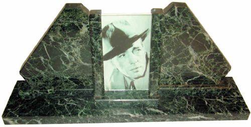 Französischer Antiker Art deco Marmor Bilderrahmen ca. 1930