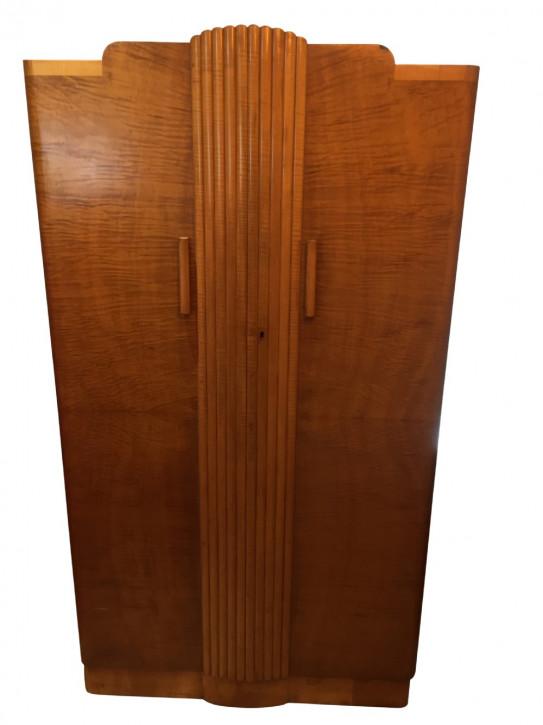 Antiker Englischer Art Deco Herren Kleiderschrank von Epstein ca. 1930