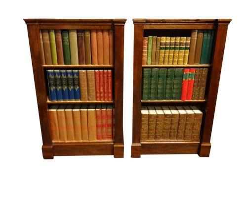 Englisches Antikes Paar Mahagoni Bücherregale ca. 1880