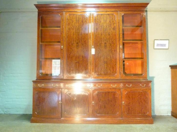 Englisches Antikes Mahagoni Bücherregal ca. 1880