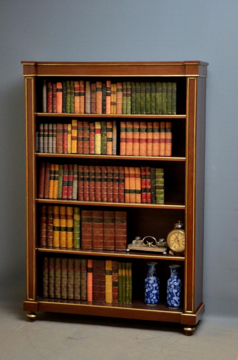 Viktorianisches Englisches Antikes Mahagoni Bücherregal ca. 1880
