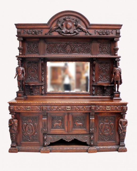 Antikes englisches Eichen Sideboard 19. Jh