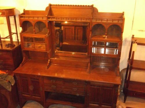 Antikes viktorianisches Eichen Sideboard englisch ca 1880