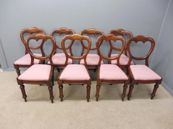 Viktorianische Mahagoni Esszimmer Stühle antik ca 1860