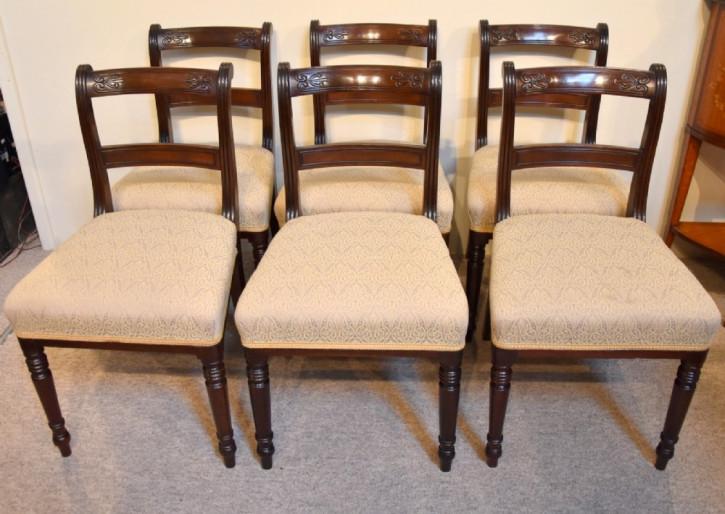 Regency Antike Englische Mahagoni Esszimmerstühle ca. 1820
