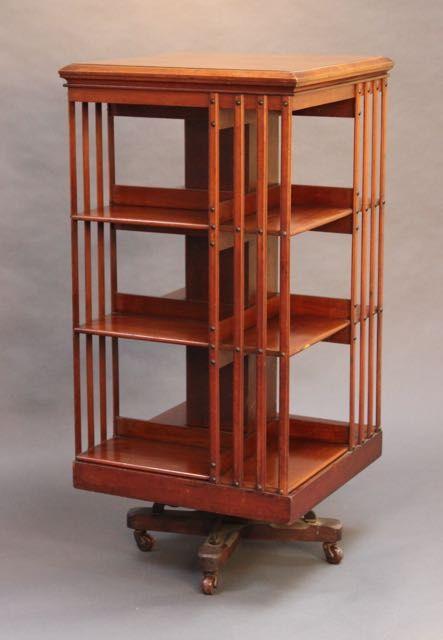 Englisches Antikes Mahagoni Dreh Bücherregal ca. 19. JH.
