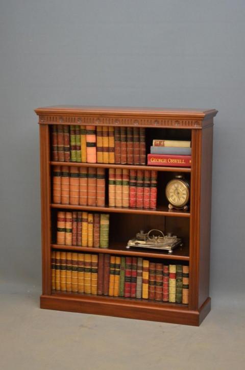 Edwardianisches Englisches Antikes Mahagoni Bücherregal ca. 1910