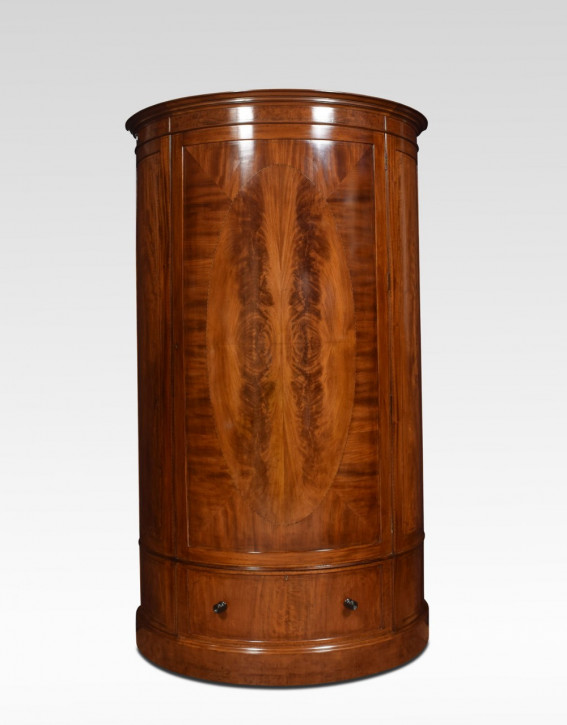 Edwardianischer antiker Mahagoni Kleiderschrank Maple & Co 1910