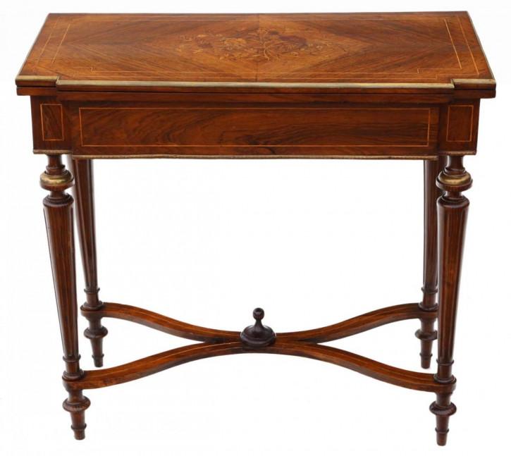 Antiker Palisander Spieltisch original englisch 19. Jh