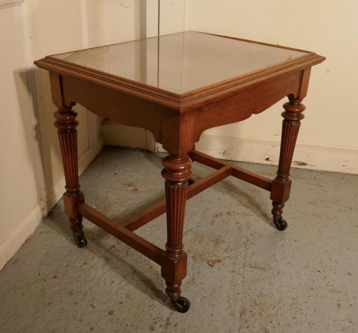 Antiker viktorianischer Arts and Crafts Beistelltisch Eiche britisch ca 1850