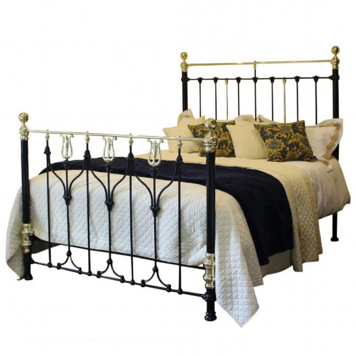 Jugendstil Antikes Englisches Messing Bett ca. 1900