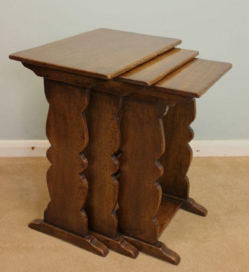 Antike Eichen Beistelltische Tische englisch ca. 1930