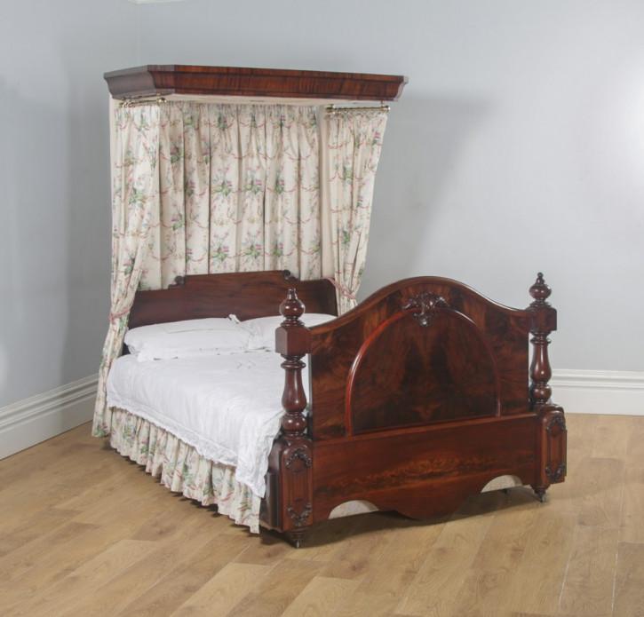 Viktorianisches Mahagoni Doppelbett Kingsize antik englisch  ca 1870