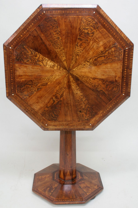 Antiker englischer Massivholz Beistelltisch 19. jh