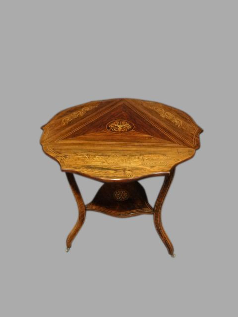 Antiker britischer Palisander Dropleaf Beistelltisch ca 1900