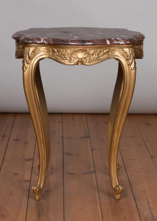 Französischer antiker Beistelltisch Gold Marmor ca 1890